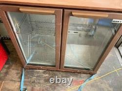 2 Glass Door Display Fridge Under Counter Chiller Refrigerator