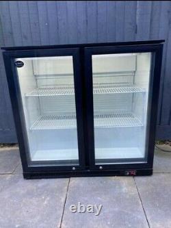 2 Glass Door Display Fridge Under Counter Shop Chiller Refrigerator