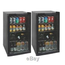 2 x Undercounter Beer Wine Drinks Bottle Fridge / Cooler / Chiller M195418x2