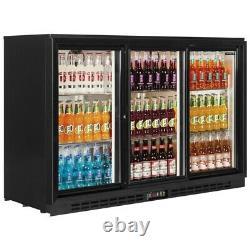 3 Door Bar Cooler Undercounter Sliding Door Pub Drink Bottle Fridge Kbc3s