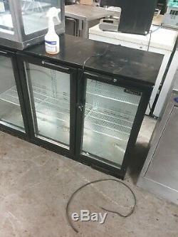 3 Door Under-Counter Display Fridge Commercial Back Bar Bottle Cooler