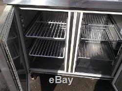 4 Door Commercial Stainless Steel Under Counter Prep Table Fridge