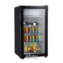 83L Mini Fridge Ice Box Small Refrigerator Under Counter Table Top Drinks Bar UK