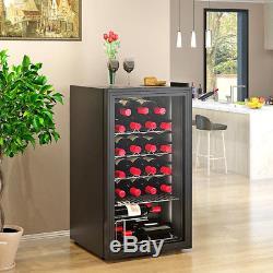 85L/93 L Drinks Cooler Fridge Glass Clear Door Under Counter Beer Wine Display