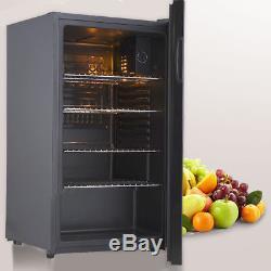 85L Under Counter Drink Beer Glass Display Chiller Cooler Fridge Home Bar 5-Tier