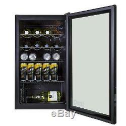 93 Litre Under Counter Glass Door Display Beer/Wine Fridge Pub Bar Restuarant
