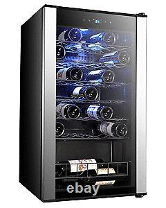95L Glass Door Wine & Beverage Cooler Undercounter Mini Bar Beer Drinks Fridge