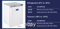 Arctica Commercial Undercounter Fridge White HEC906/907 200ltr