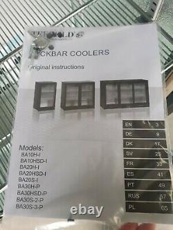 BA10H Back Bar Fridge Glass Door Display Chiller Under counter