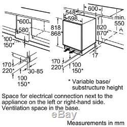 BOSCH KUR15A50GB Integrated Undercounter Fridge #1321607