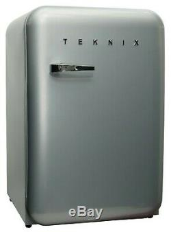 BRAND NEW Teknix T130RDS Retro Style Under Counter Fridge/Ice Box (55cm x 84cm)
