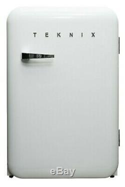 BRAND NEW Teknix T130RDW Retro Style Under Counter Fridge/Ice Box (55cm x 84cm)