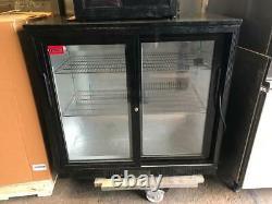 Back bar cooler sliding door undercounter fridge 208L Bottle Chiller 90x52x90cm