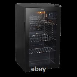 Baridi 80L Wine Beer Drinks Fridge Cooler Thermostat Lock & Key & Light