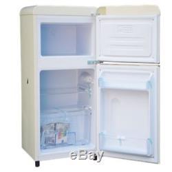 Bauer Haus Undercounter Double Door Retro Fridge Freezer Cream 80L A+ Energy