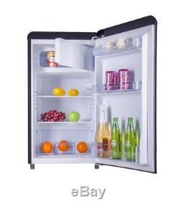 Bauer Haus Undercounter Single Door Retro Fridge Freezer 84L Black Chrome Handle