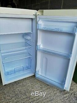 Bauer Haus Undercounter Single Door Retro Fridge Freezer 84L Chrome handle Cream