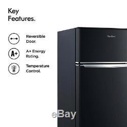 Black Mini Fridge Freezer Refrigerator Cooler Small Compact Office Food Storage