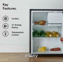 Black Mini Fridge Ice Box Small Refrigerator Under Counter Table Top Drinks Bar