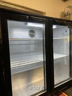Blizzard BAR2 Under Counter Bottle Cooler Hinged 2 Door, Used