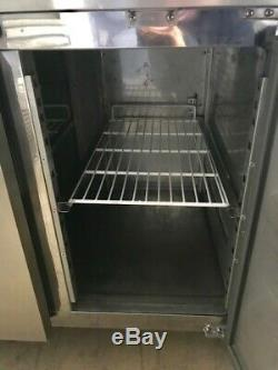 Blizzard Stainless Steel 2 Door Under Counter Fridge With Castors 422