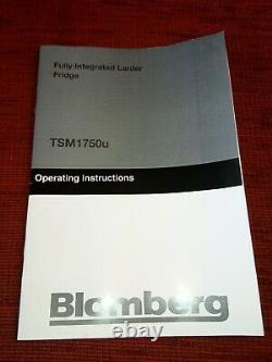 Blomberg TSM1750U Integrated Under Counter Larder Fridge