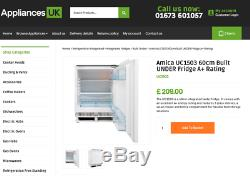 Brand New & Boxed Under Counter Integrated Fridge AMICA UC1503 RRP £210