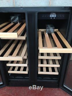 CDA 2 Door Undercounter Wine Display Chiller/ Cooler/ Fridge LED