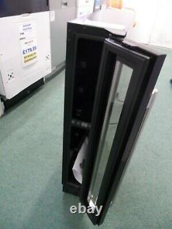 CDA Slimline Wine Cooler Fridge Under-Counter Single Zone Slim FWC153BL Black
