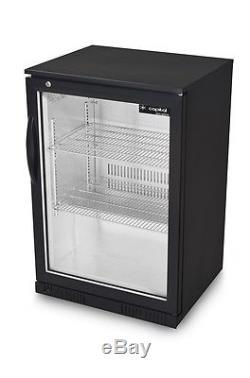 Capital PRIMO 1 MAXI Single Door Beer Fridge Black under counter bottle cooler