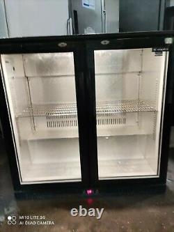 Capital under counter commercial double door glass fridge bottle cooler