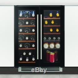 Caple wine fridge undercounter chiller cabinet 60cm dual zone ex display Wi6231