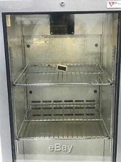 Caravell Under Counter Single Glass Door Drinks Display Fridge Internal Lights