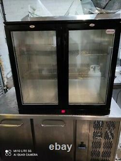 Cater cool Under counter commercial double sdoor glass fridge bottle cooler