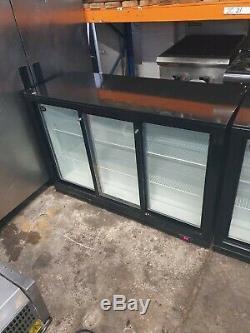 Commercial 3 door under counter drinks fridge