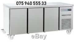 Commercial Stainless Steel Under Counter 3 Door Freezer 6ft wide & Free Deliver
