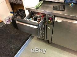 Commercial Zanussi undercounter fridge Stainless Steel