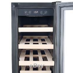 Cookology CWC300SS Wine Cooler S/Steel 20 Bottle 30cm Undercounter Fridge