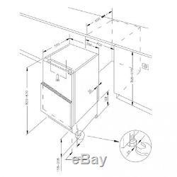 Cookology Integrated 60cm Built Under Counter Larder Fridge & Freezer Pack