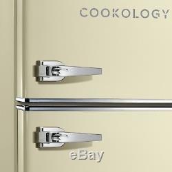 Cookology RETRO86CR 1950's Undercounter Fridge Freezer in Retro Cream, 50cm wide