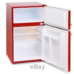 Cookology RETRO86RD 1950's Undercounter Fridge Freezer in Retro Red, 50cm wide