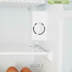 Cookology UCIF93WH Under Counter Freestanding Fridge 47cm wide with chiller box