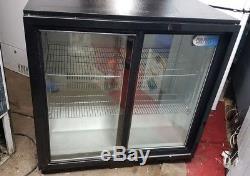 Coolpoint commercial undercounter bar drinks chiller sliding doors