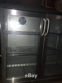 Cornelius Back Bar Bottle Cooler 2 Door Under Counter Display Fridge Commercial