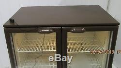 Cornelius Double Glass door Drinks Display Fridge Chiller under counter Cooler