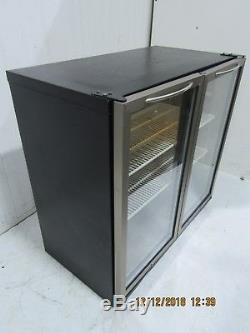 Double Glass Door Drinks Display Fridge Chiller Under Counter Back Bar #4 1212