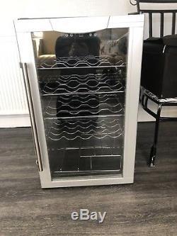 Drinks Cooler Fridge Glass Door Under Counter Beer Wine Display Chiller