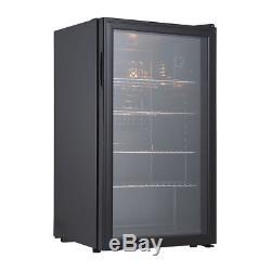 EGGREE Under Counter Drinks Display Chiller Cooler Fridge Shop Glass Door 85L
