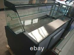 Flat Glass Chilled Serve Over Counter Display Fridge 2 Tier Under Storage