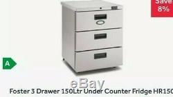 Foster 3 Drawer 150l Under Counter Fridge